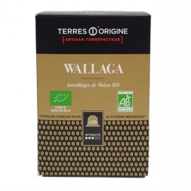 Lot de 15x10 capsules de Café Wallaga BIO fruité