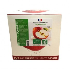 Lot de 5L de Pur jus pomme trouble BIO France